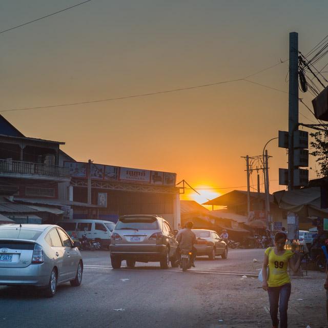 Posta de sol a Phnom Penh..