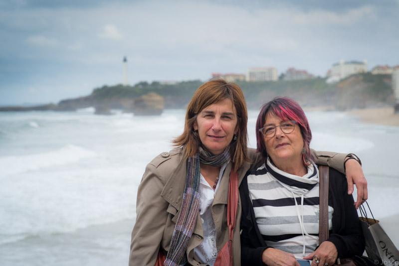 Dues amigues a Biarritz